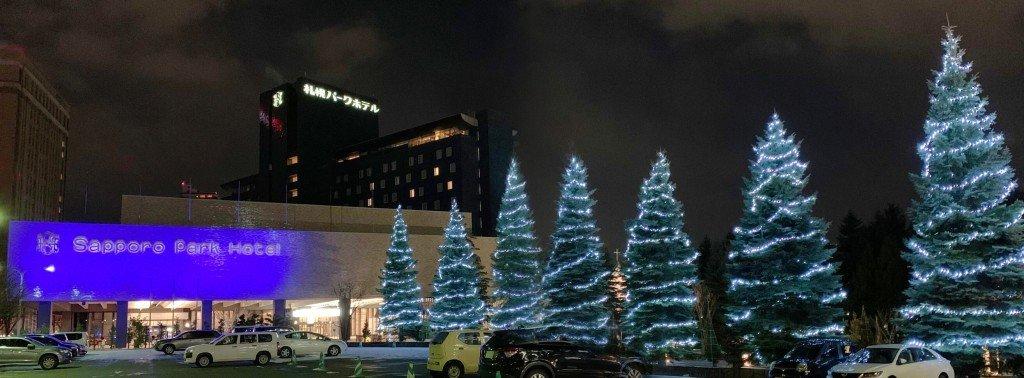 札幌パークホテル冬のイルミネーション『パークブルー』