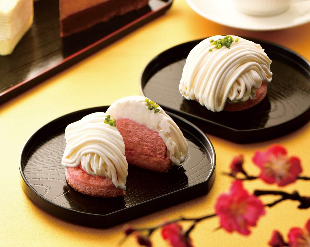 カフェ・ド・クリエ『ホワイトチョコとあまおう苺のモンブラン』