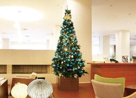 札幌パークホテル冬のイルミネーション『パークブルー』-クリスマスツリー