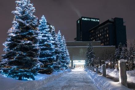 札幌パークホテル冬のイルミネーション『パークブルー』-パークアベニューイルミネーション