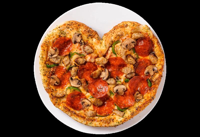 ドミノ・ピザの『ハートのドミノ・デラックス』