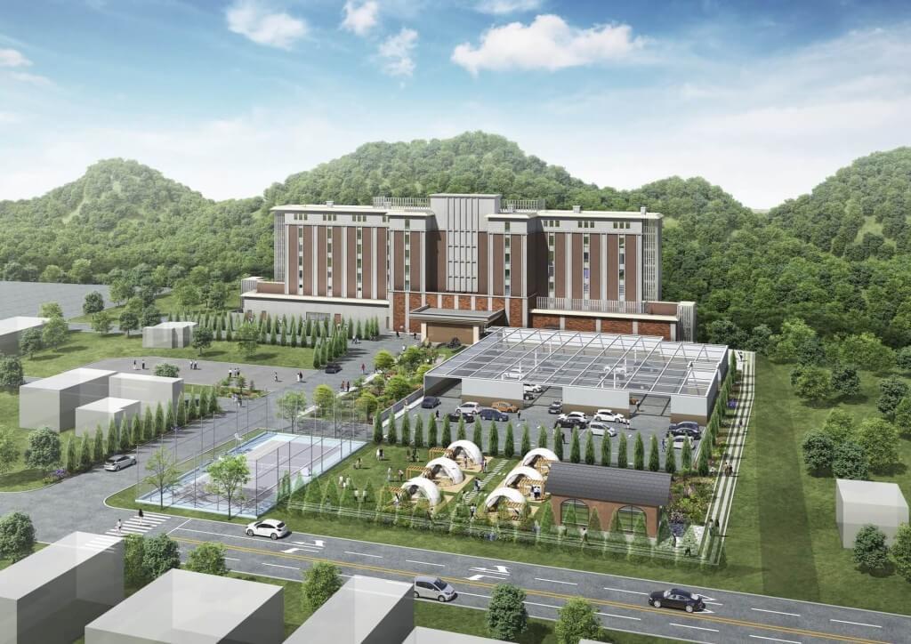 グランドブリッセンホテル定山渓の外観