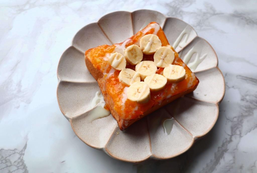 高級「生」食パン専門店 乃が美の『温州みかんジャム』-アレンジレシピ「爽やかな甘味がやみつき!みかんバナナトースト」