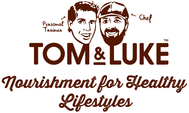 『トムアンドルーク フルーツ&ナッツスナックボールチョコレート』のロゴ