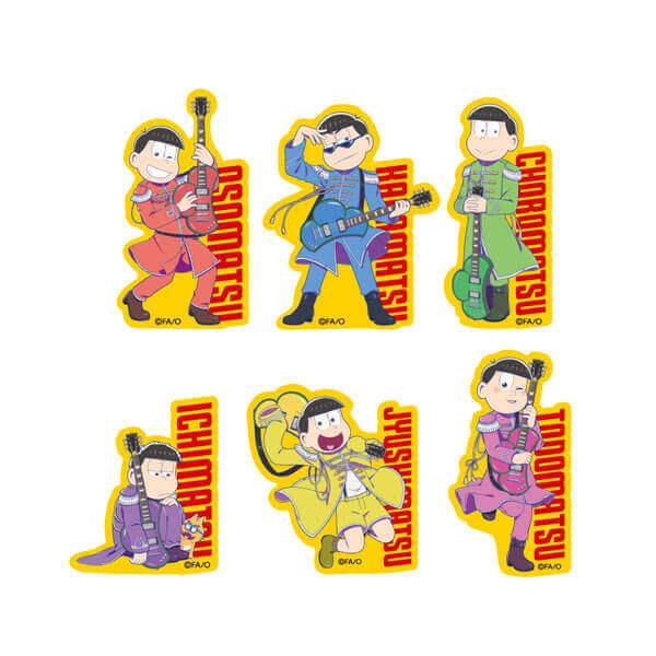 『おそ松さん × TOWER RECORDS』コラボグッズ-トレーディングダイカットステッカー