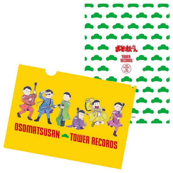 『おそ松さん × TOWER RECORDS』コラボグッズ-A4クリアファイル