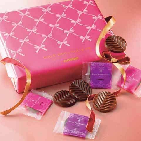 ロイズのバレンタインデー限定商品『ピュアチョコレート[スイート&ミルク](ギフト)』