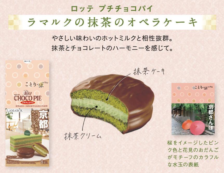 ことりっぷ プチチョコパイ<ラマルクの抹茶のオペラケーキ>
