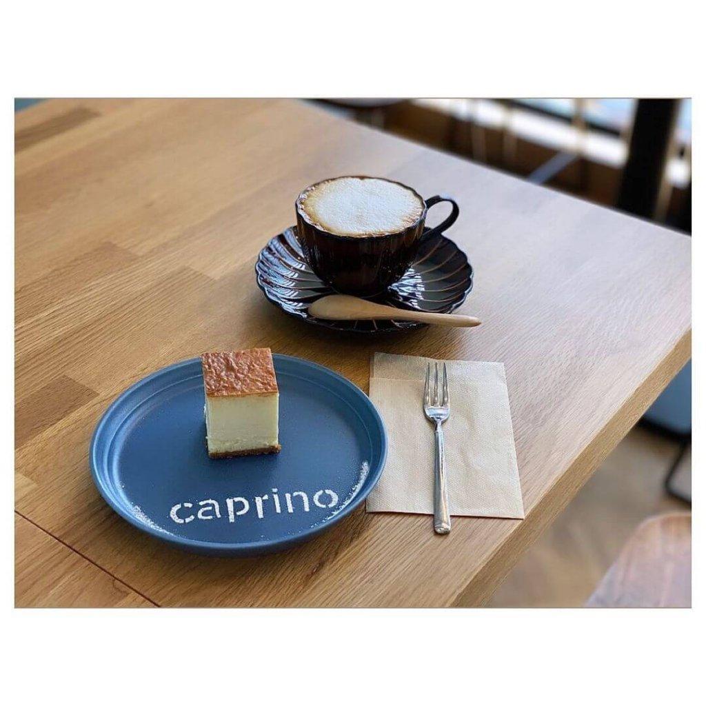 cheese & cafe caprino(カプリーノ)の『チーズケーキ』『カフェラテ』