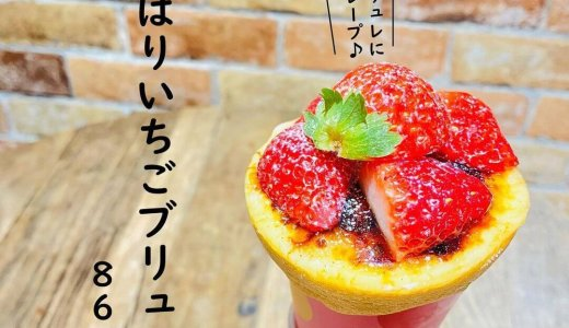 大丸札幌にあるつつみやから『よくばりいちごブリュレ』が2月20日に発売!