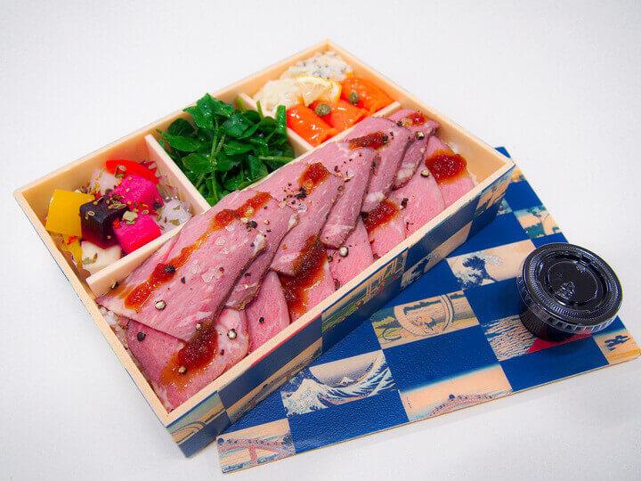 ホテルエミシア札幌の『十勝ハーブ牛のローストビーフ重』