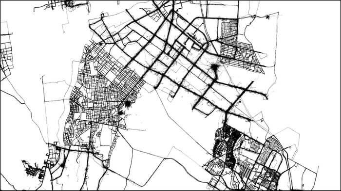 さっぽろウインターチェンジ 2021「Extreme Data Logger:都市と自然の記憶」-SNOW PLOW TRACE [ LCD version ] 制作イメージ