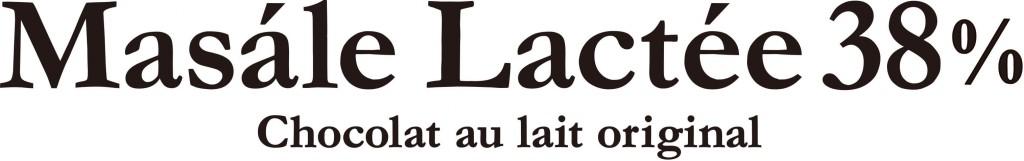 ショコラティエ マサールのマサールラクテ38%ロゴ