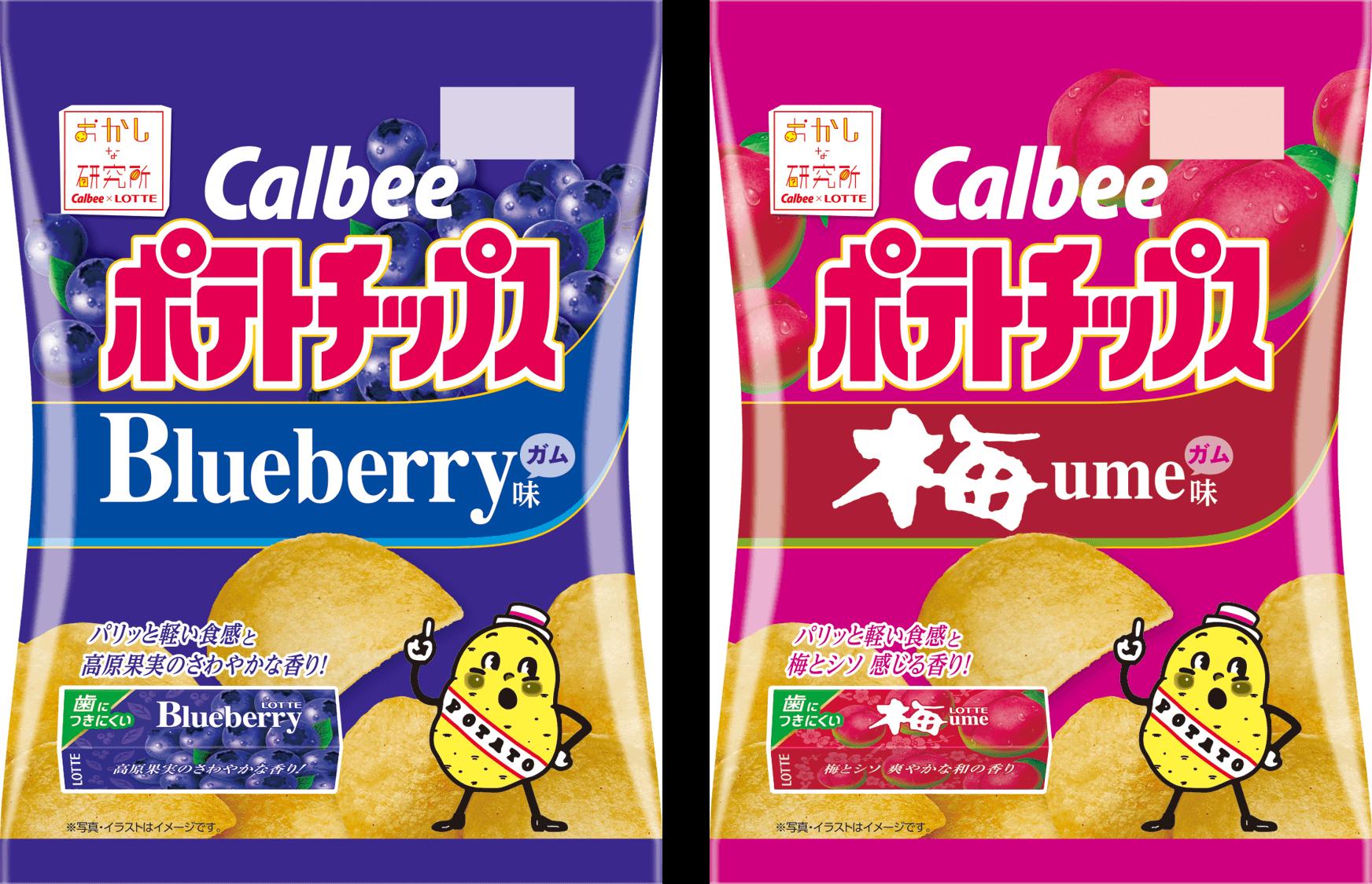 『ポテトチップス ブルーベリーガム味 / 梅ガム味』