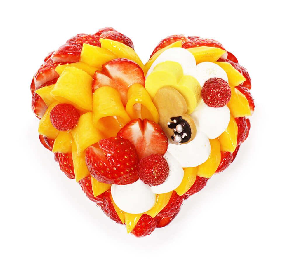 カフェコムサ『「恋みのり」いちごとマンゴーのケーキ』-予約限定ケーキ