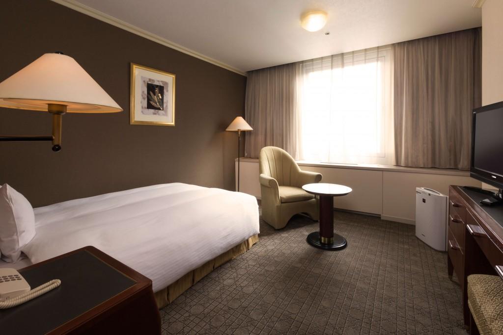 札幌グランドホテルのスタンダードシングル客室例