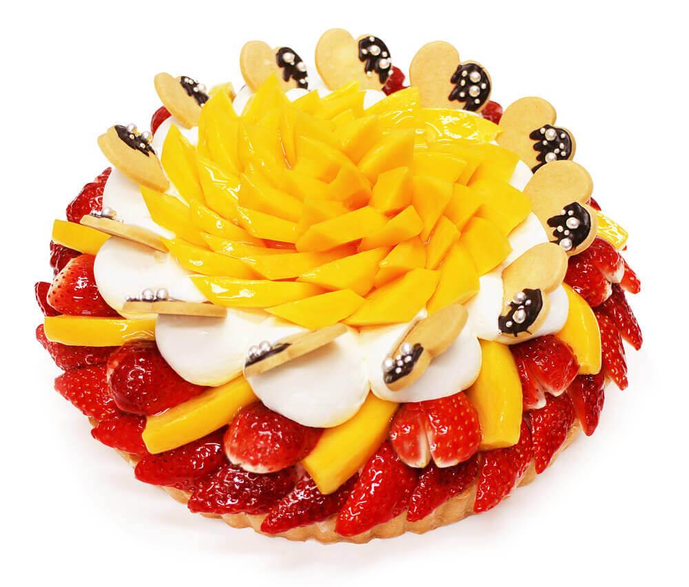 カフェコムサ『「恋みのり」いちごとマンゴーのケーキ』-店頭販売ケーキ