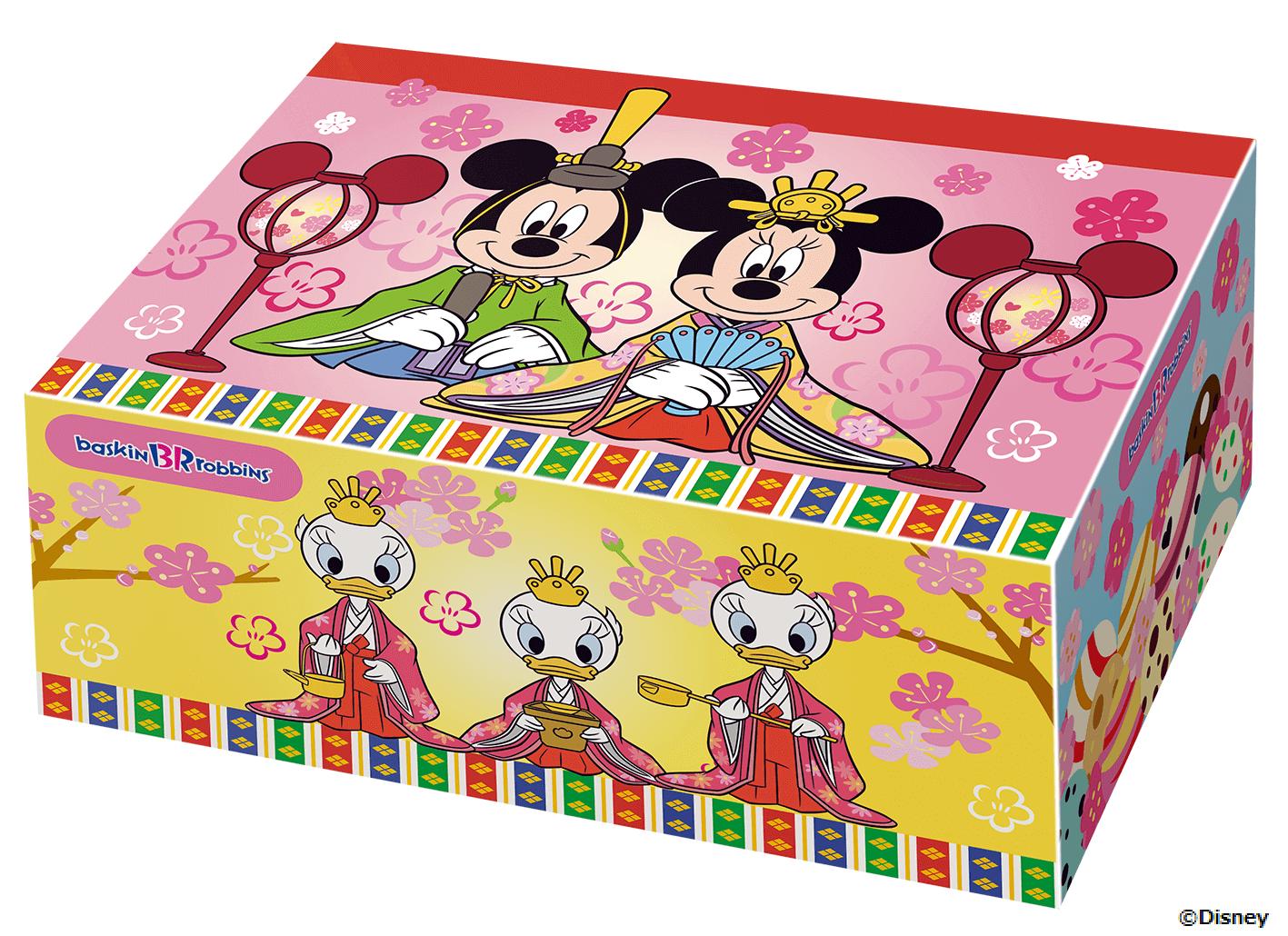 サーティワン『ミッキー&ミニー ひなだんかざり』のBOX