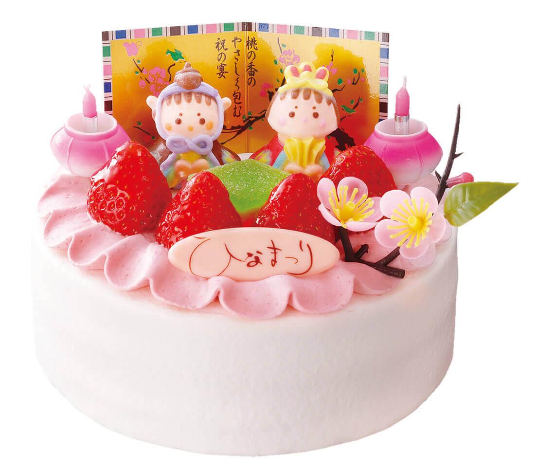 もりもとのひなまつり商品『真っ赤ないちごのひなまつりケーキ』