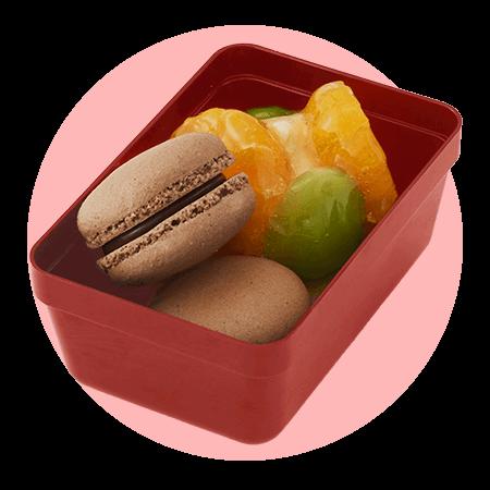 ルタオ『ひなまつりスイーツボックス』-フルーツタルトとチョコマカロン