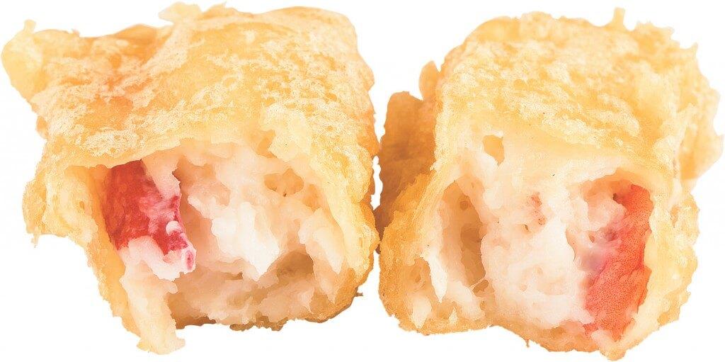 スシロー『Go To 超スシロー PROJECT』第五弾-「生本ずわい蟹剥き身天ぷら」断面イメージ
