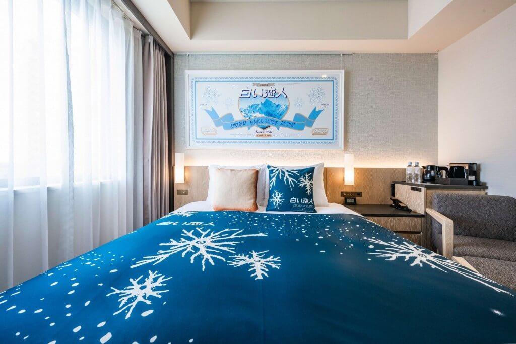 ホテルJALシティ札幌 中島公園×白い恋人コラボレーションルーム-ベッド
