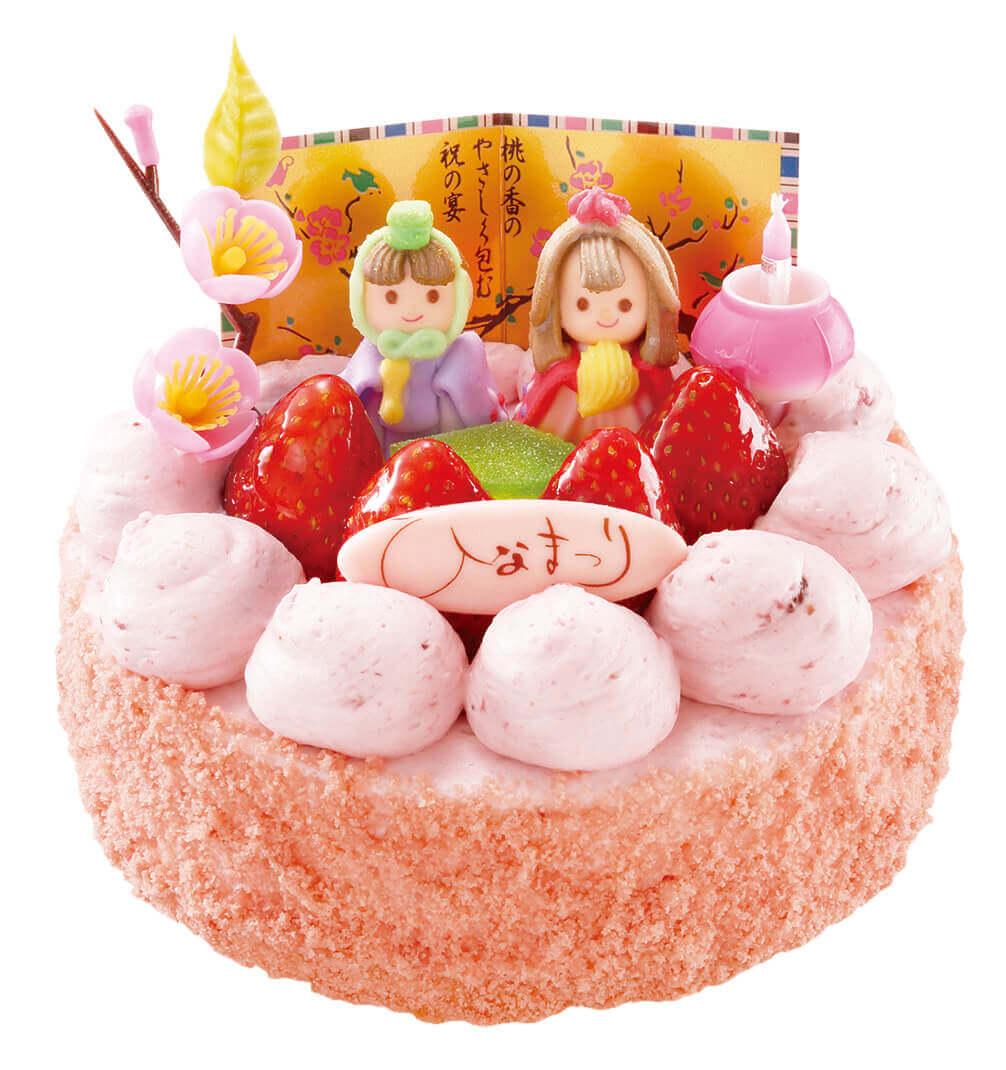 もりもとのひなまつり商品『とろけるイチゴのひなまつりケーキ』