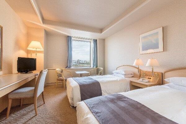 札幌パークホテルのスタンダードツイン客室例