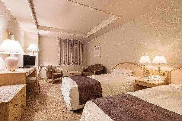 札幌パークホテルのスタンダードラージツイン客室例