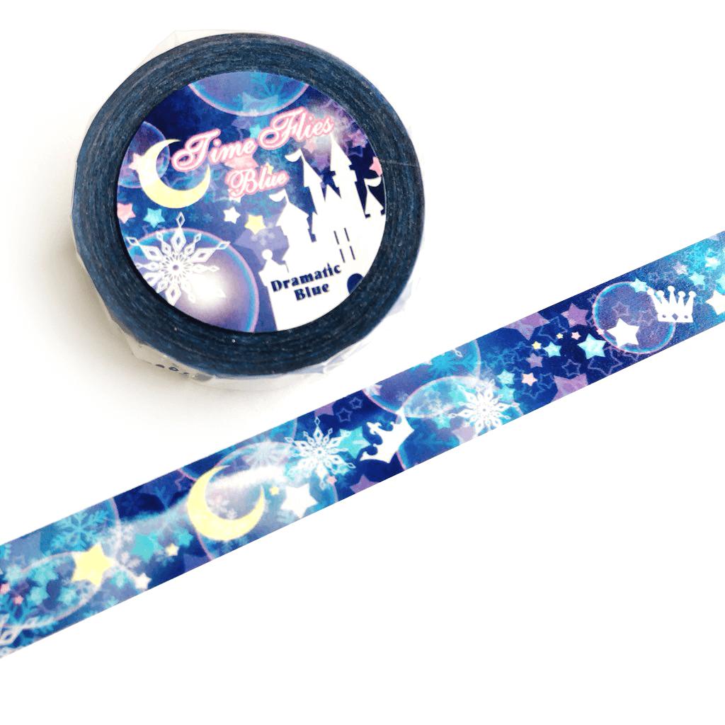 DramaticBlue(ドラマチックブルー)『星柄のマスキングテープ「Time Flies-Blue-」』