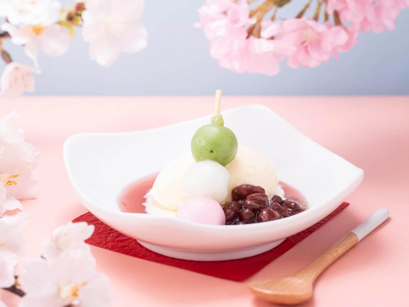 しゃぶしゃぶ温野菜『桜ソースのお花見アイス』