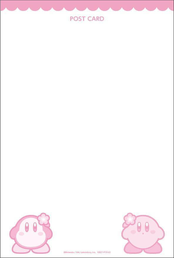 星のカービィポップアップショップのオリジナルポストカード