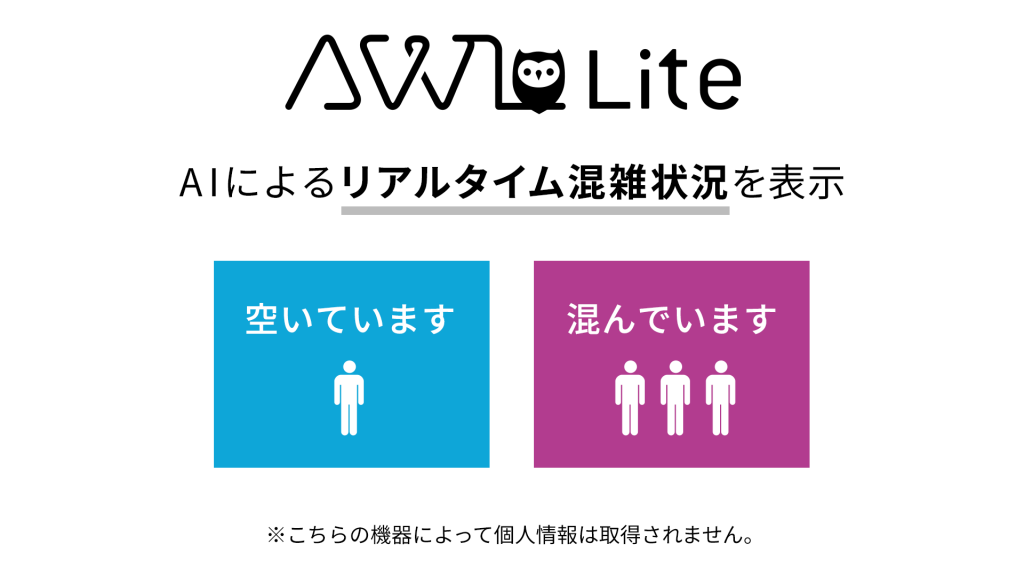 「AWL Lite」混雑状況表示イメージ