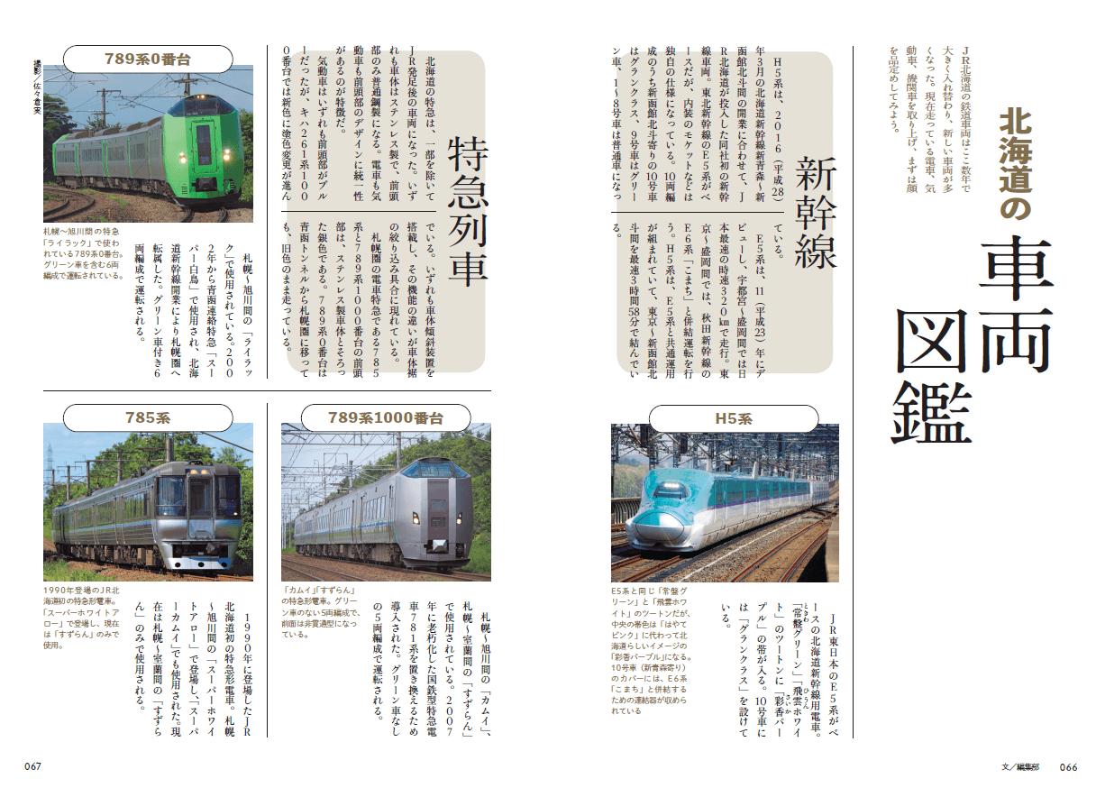 『旅鉄BOOKS043 北海道の鉄道旅大図鑑 改訂版』-第2章 北海道全車両
