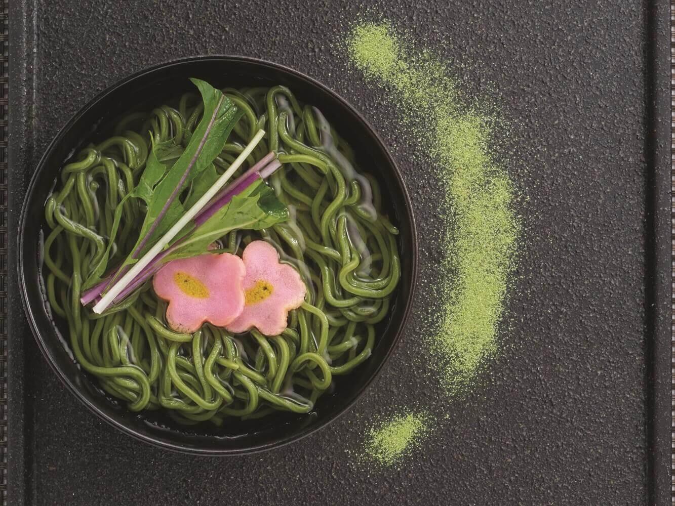 しゃぶしゃぶ温野菜『新緑の茶そば』