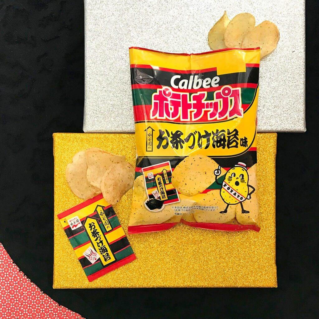 『ポテトチップス 永谷園のお茶づけ海苔味』