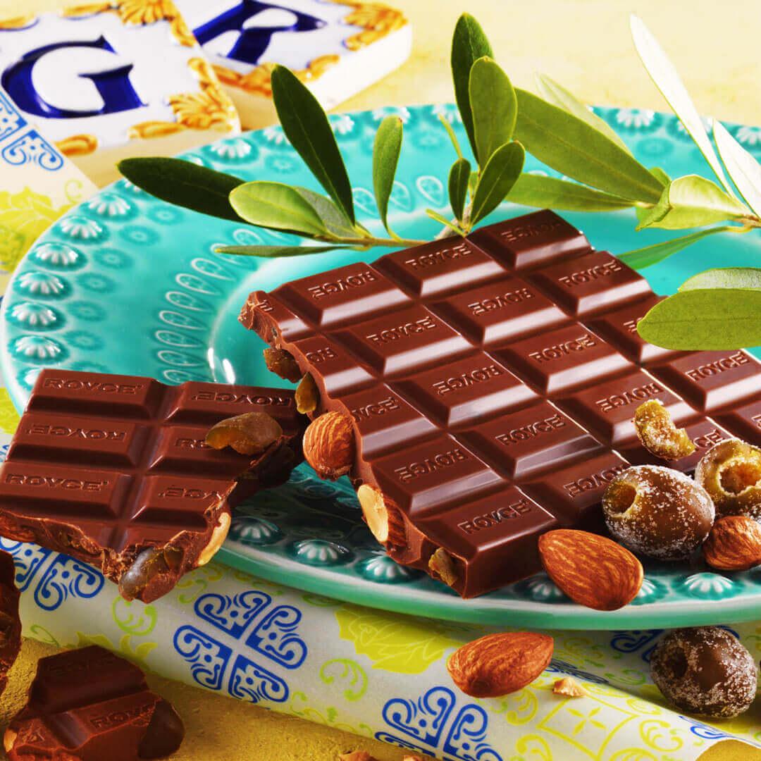 ロイズの『板チョコレート[アーモンド&オリーブ]』