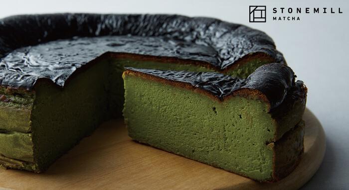 PRONTO(プロント)の『STONEMILLの抹茶バスクチーズケーキ』