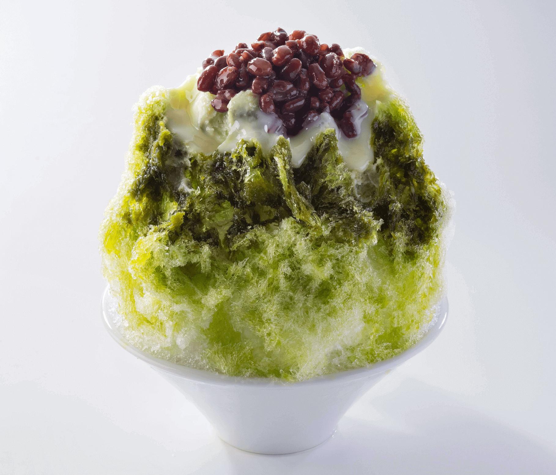北海道生まれ和食処とんでん『綿雪』-抹茶ミルク綿雪
