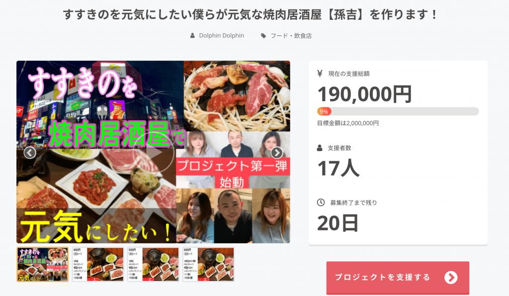 焼肉居酒屋【孫吉】のクラウドファンディング