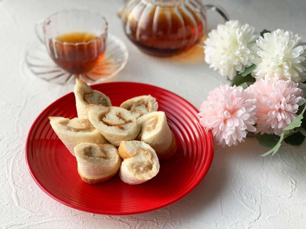 高級「生」食パン専門店 乃が美の『ロイヤルミルクティージャム』のおすすめアレンジレシピ-ロイヤルミルクティーロール