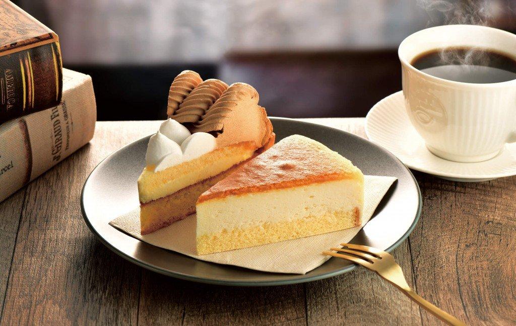 カフェ・ド・クリエ『キャラメルバナナタルト』『レモンスフレチーズケーキ』