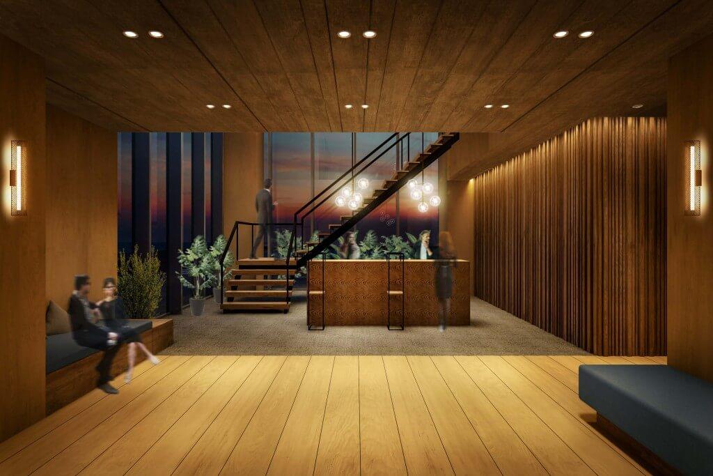 ビスポークホテル札幌のラウンジ
