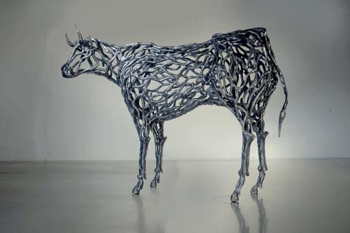 浅井憲一展~鉄の彫刻~『ふたつの影』