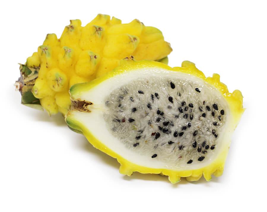 カフェコムサの『コロンビア産「ハニーピタヤ」とパッションフルーツムースのケーキ』で使用しているコロンビア産「ハニーピタヤ」