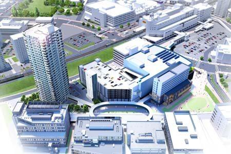 『プレミストタワー新さっぽろ』の「新さっぽろ駅周辺地区G・I街区開発プロジェクト(I街区)」(イメージ図)