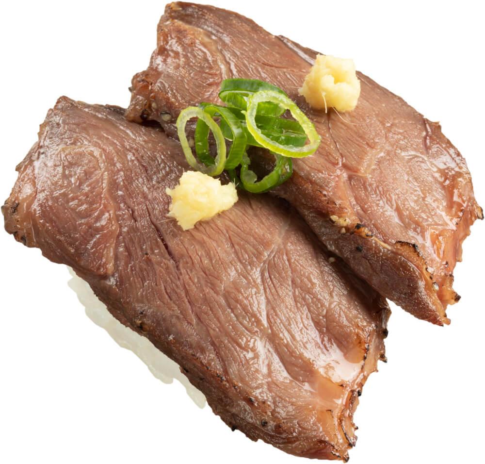 スシロー『GW100円(税込110円)ネタと肉祭』-「桜肉のロースト」