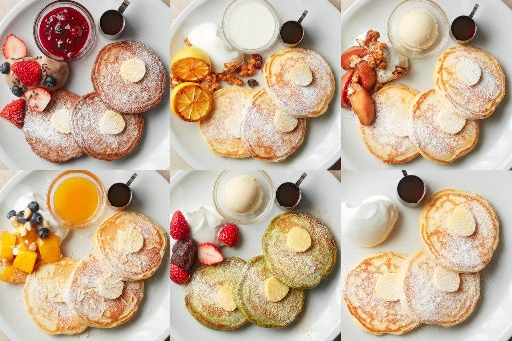 J.S. パンケーキカフェのパンケーキ各種
