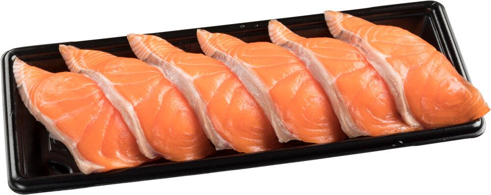 スシロー『GW100円(税込110円)ネタと肉祭』-「生キングサーモン6貫セット」