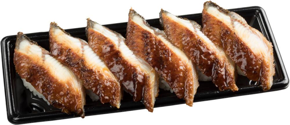 スシロー『GW100円(税込110円)ネタと肉祭』-「大切りうなぎ6貫セット」